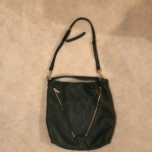 Rebecca Minkoff hunter green cross body purse